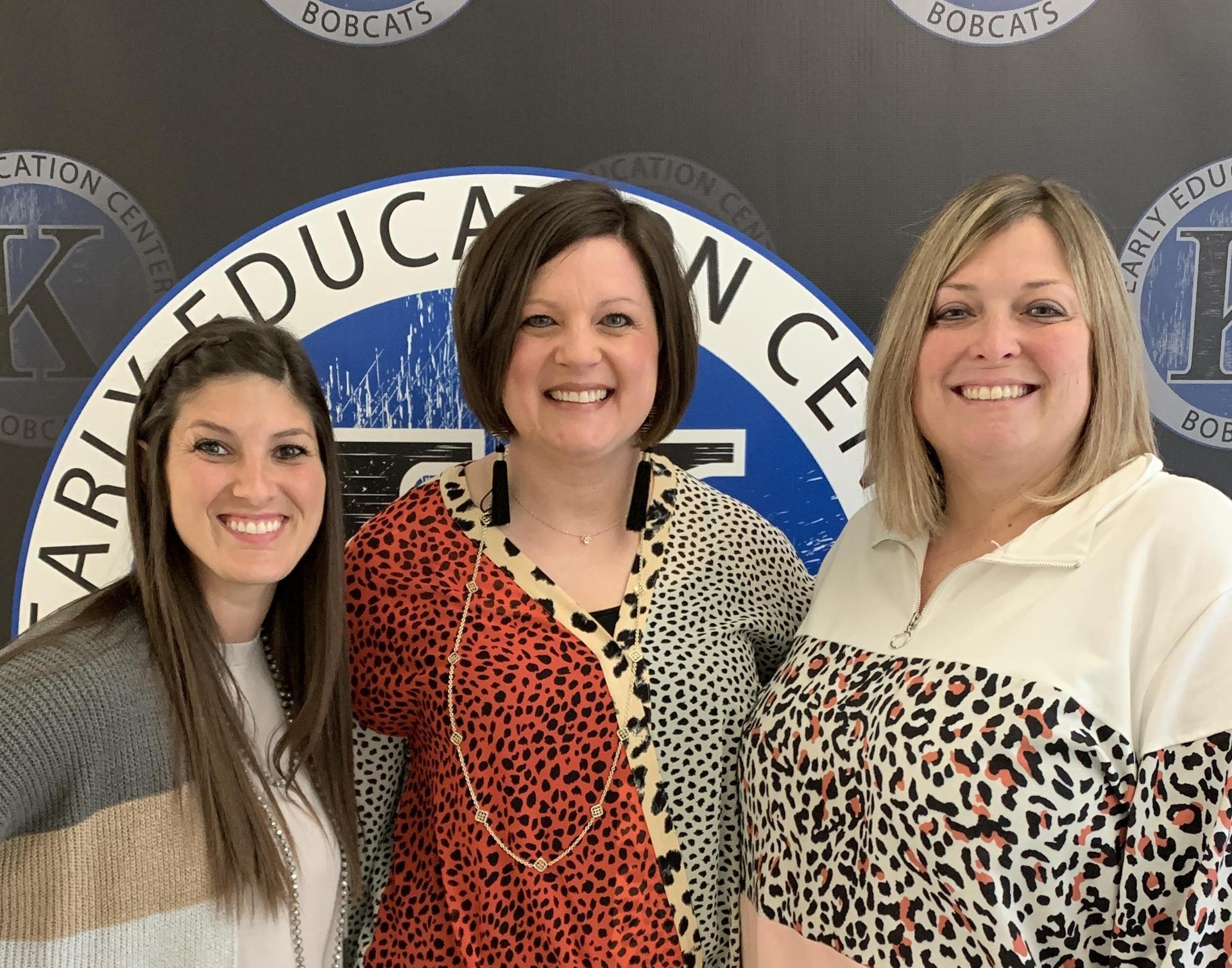 photo of mrs stupka, mrs basham, and ms white