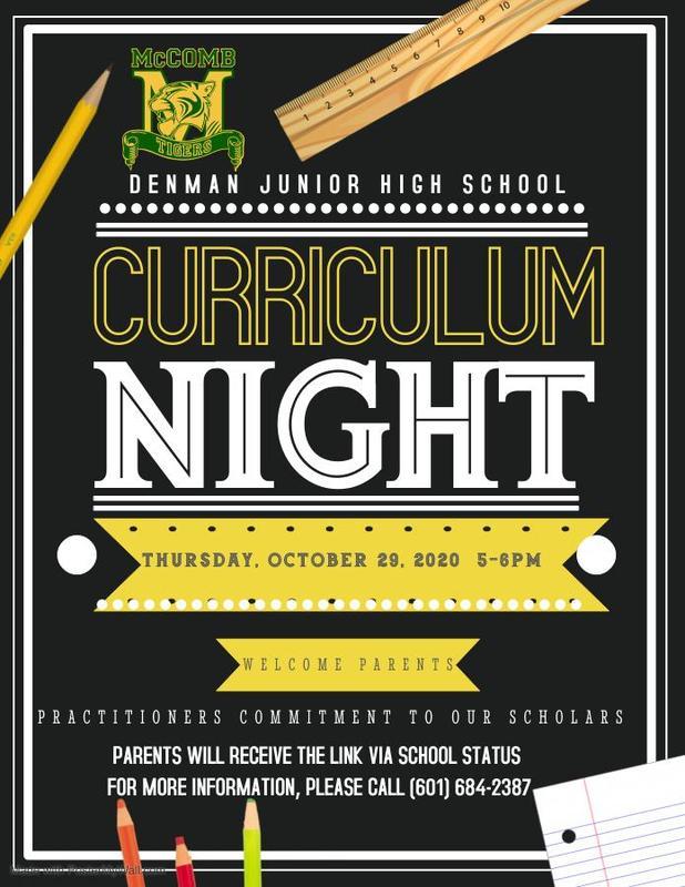 Denman Junior High School Curriculum Night 2020