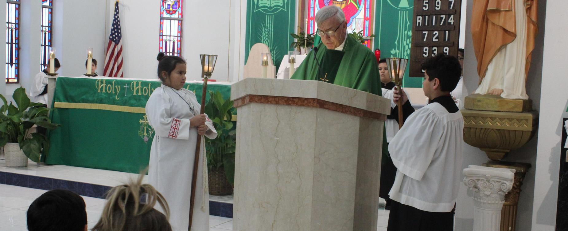 Servant Leaders at Mass