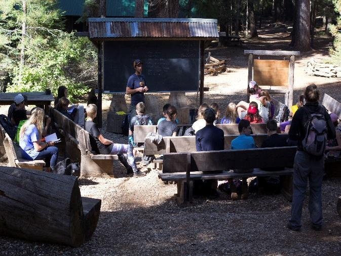 Rob Wade and students at Feather River Outdoor School