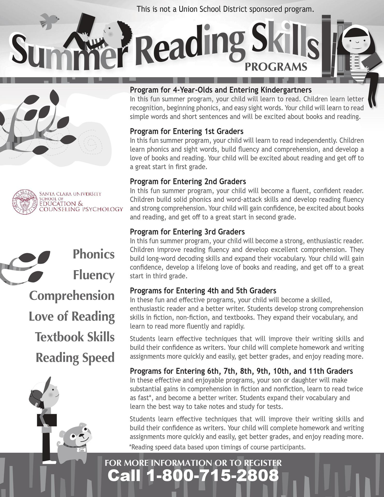 Santa Clara University Summer Reading Enrichment Program