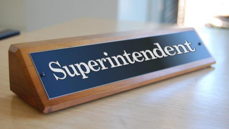 Superintendent Desk Name Plate