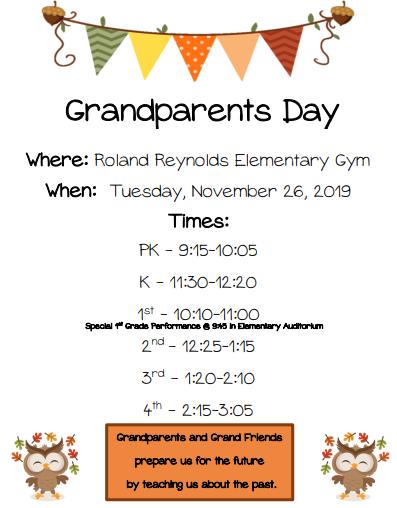 Nov. 26: Grandparents Day Celebration Thumbnail Image