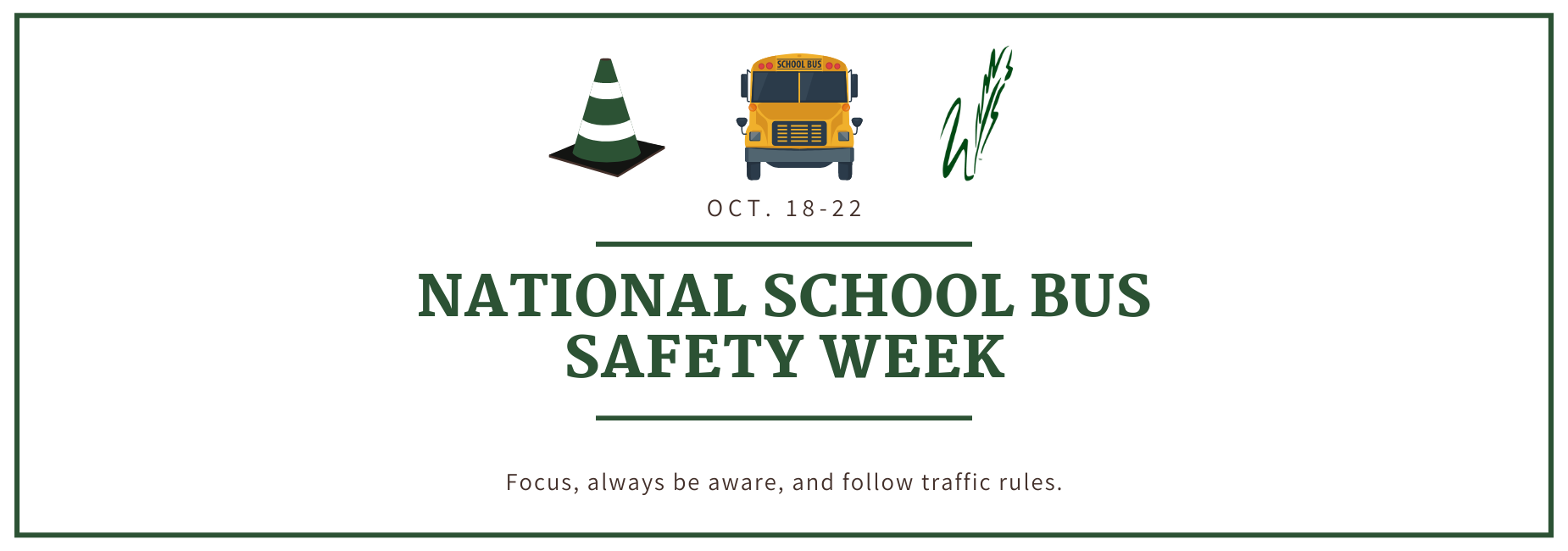 graphic describes this is national school bus safety week
