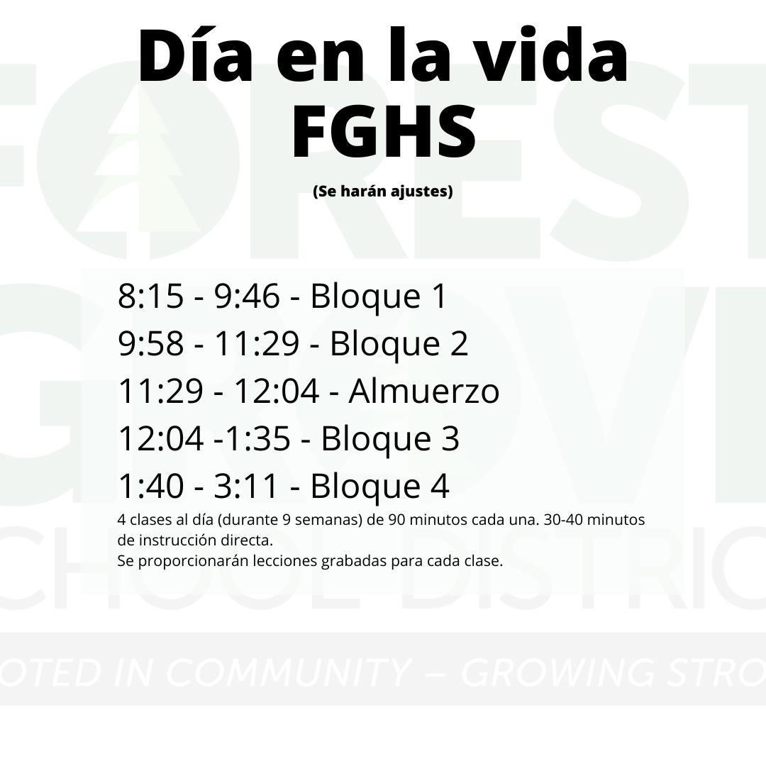 Schedule FGHS Spanish