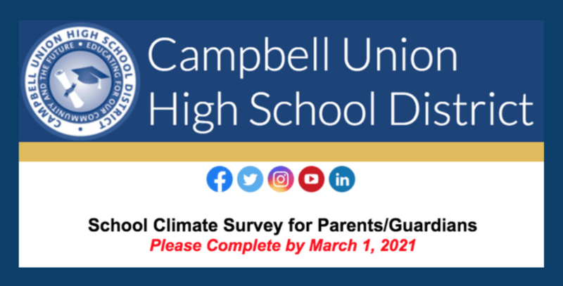 campbell union high school district school climate survey for parents