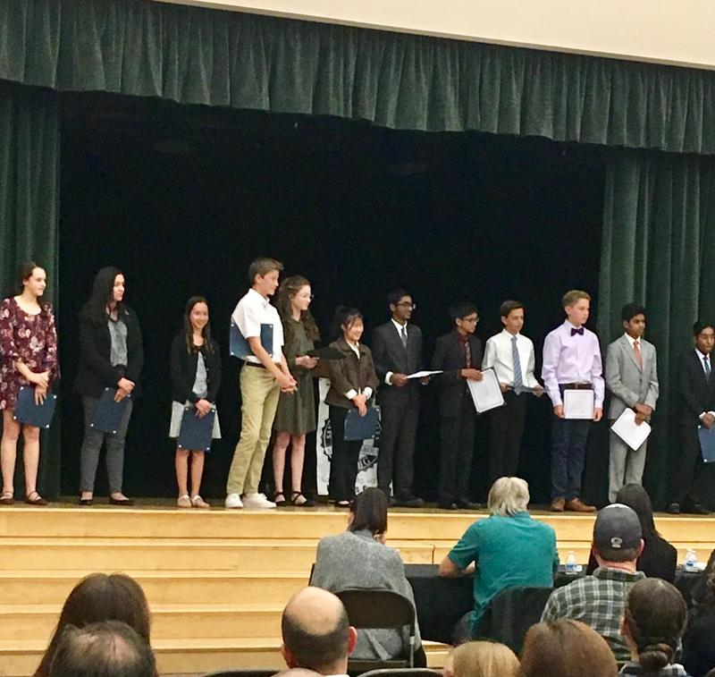Rio Norte hosted the 8th grade speech competition last night. Congratulations to the four Rio finalists!