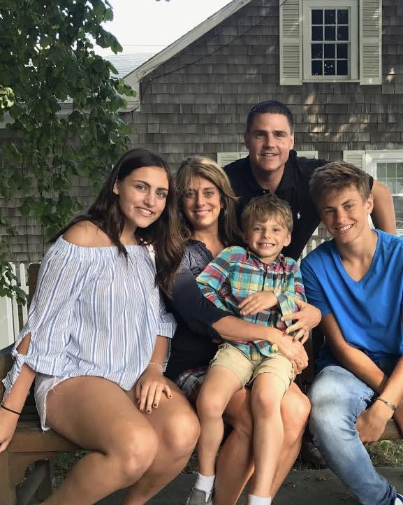 Mrs. Mezzo and her family at their favorite vacation spot, Cape Cod.