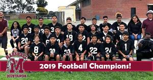 2019 Football Champions! - Congratulations Mustangs! We are Mustang #PROUD! #Proud2bePUSD http://edl.io/n1106201