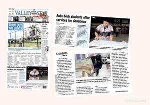 San Benito High School Career and Technology Education automotive technology class featured in the Valley Morning Star.