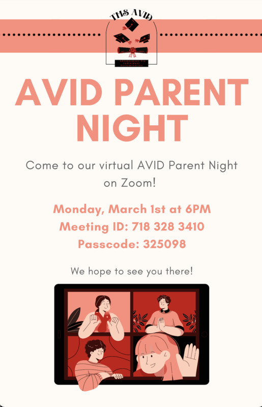 AVID Parent night at Troy