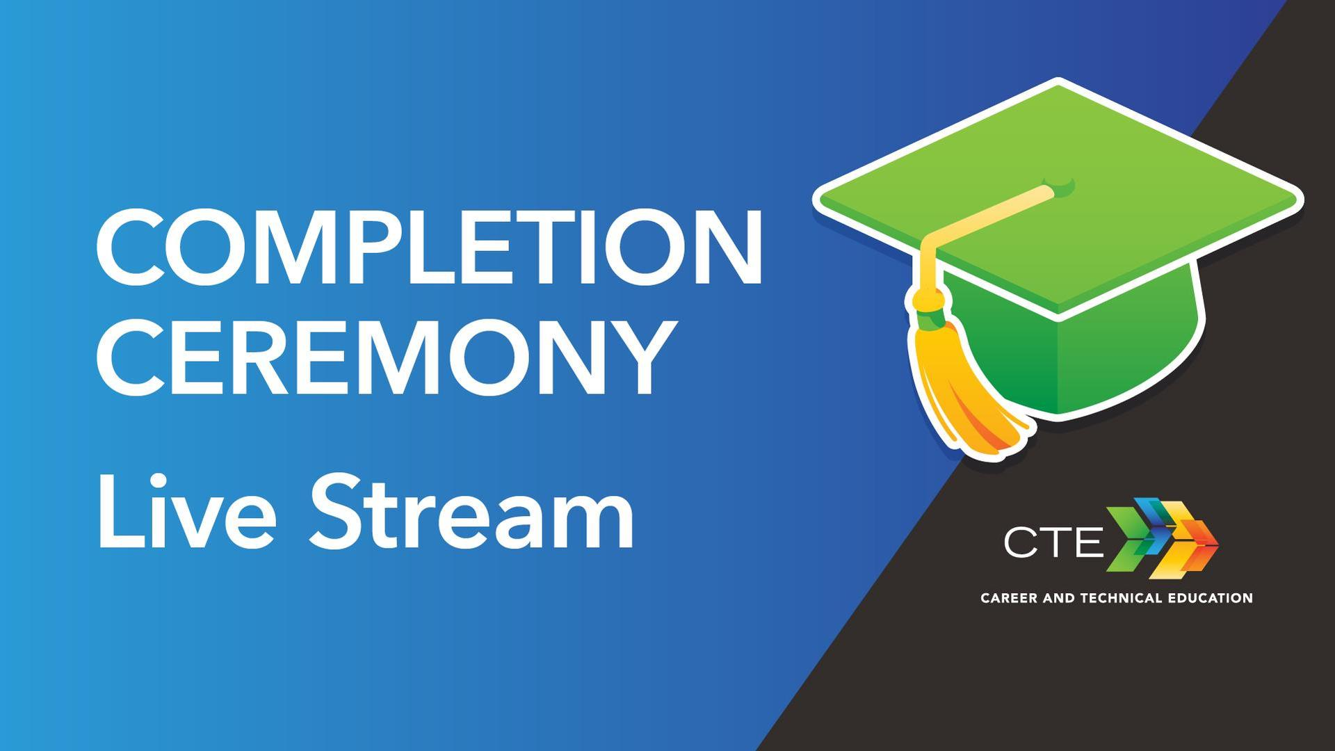 Graphic image of graduation cap for Live Stream events