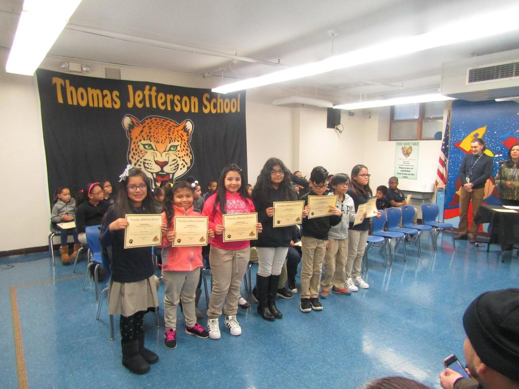 fourth group of honor roll recipients