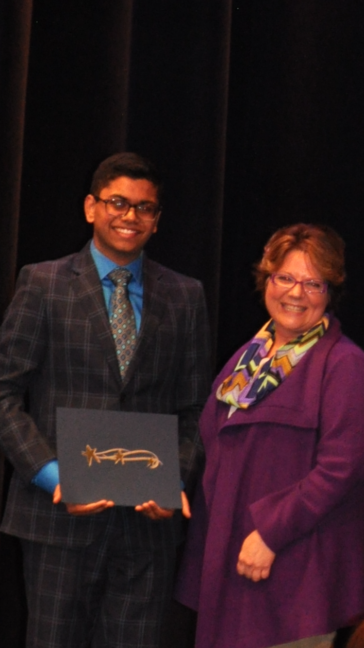 Hemanth Tadepalli, Senior @ Troy high school received the highest level, Platinum Star Award from Troy Youth award from Troy Youth Assistance Program for his exceptional service work and being President of Troy Public Library Teen Advisory Board & Troy Community. He was nominated by Cathleen Russ, Director of Troy public library