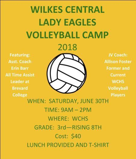 Lady Eagle Volleyball Camp Thumbnail Image