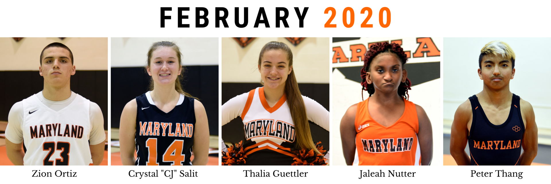 February Athletes of the Month