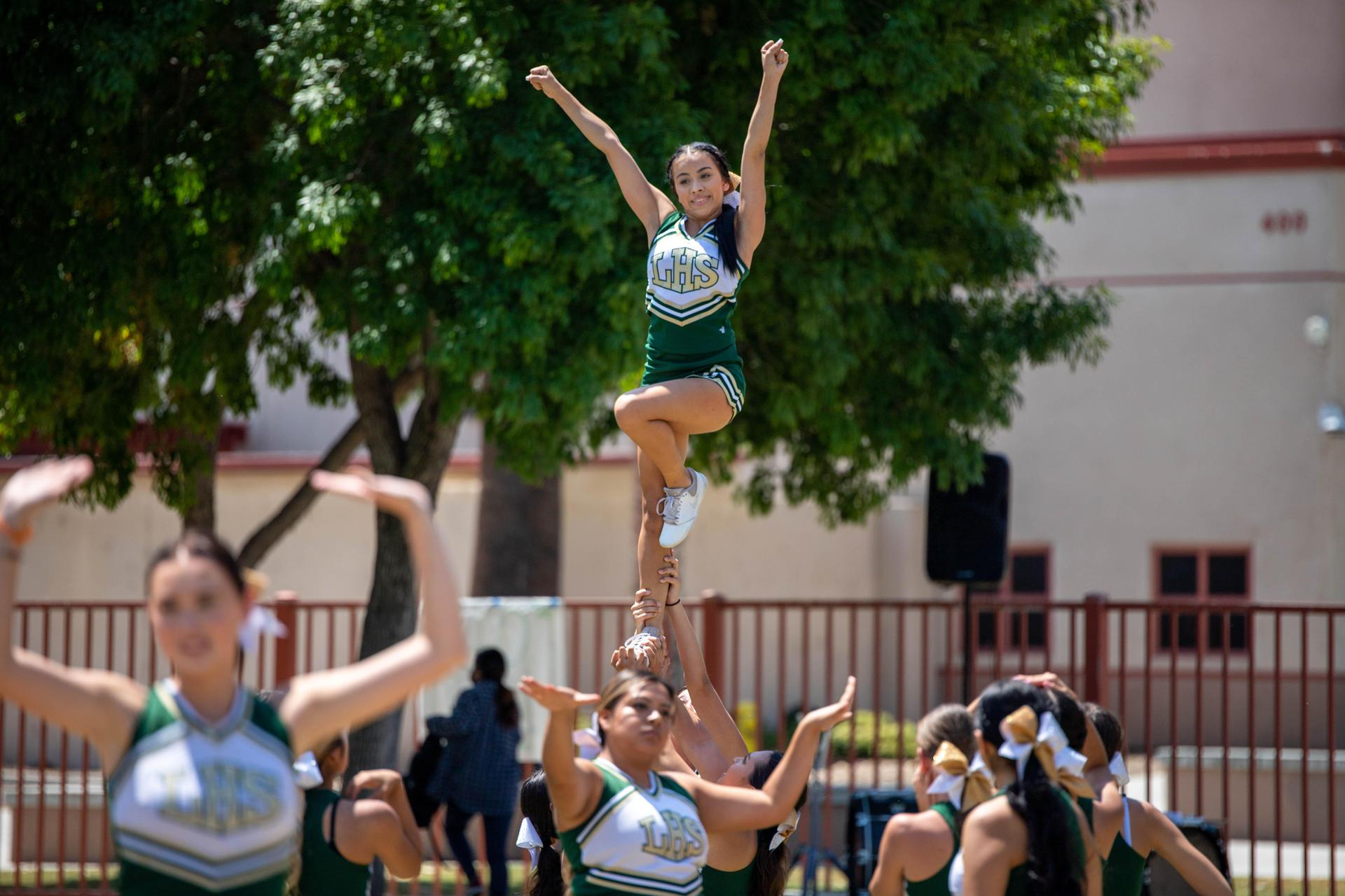 Cheer Performing at Welcome Back Rally