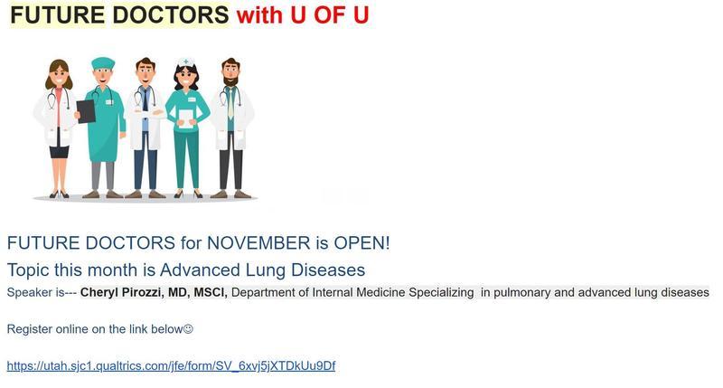 Future Doctors with U of U