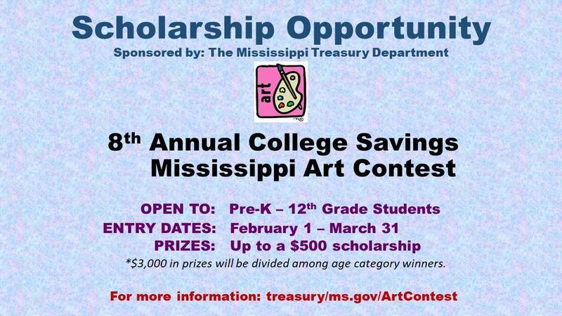 Mississippi Treasury Art Contest Graphic