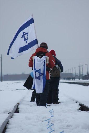 Israeli flag flying high in Poland