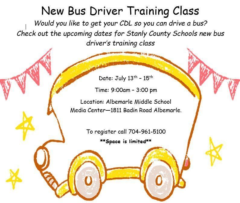 New Bus Driver Training Class Featured Photo