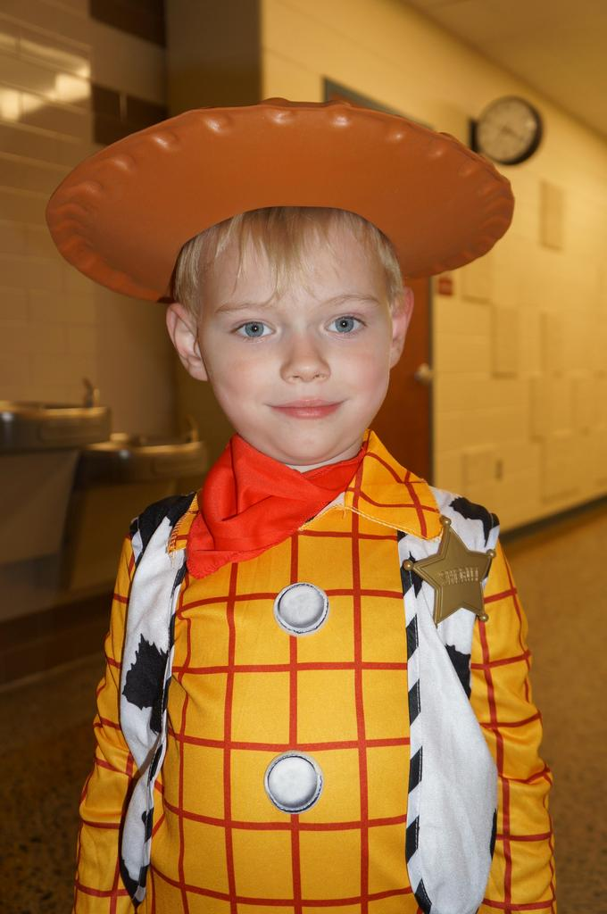 Student in Halloween costume at Spooktacular event