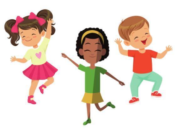 Three students dancing