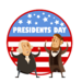 flag with presidents washington and lincoln