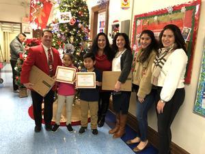 L. calvo scholarship winners and the lourdes calvo family members
