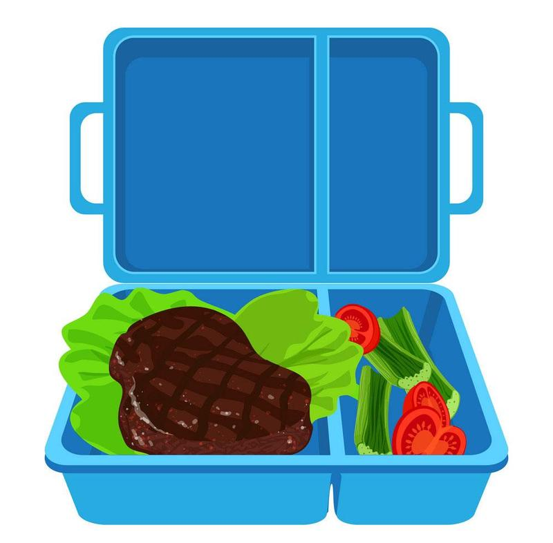 Image of lunchbox and food