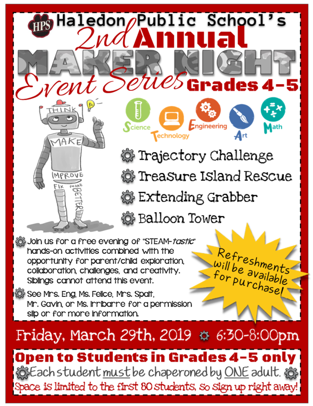 Maker Night Flyer- 3-28-2019- Grades 4-5.png