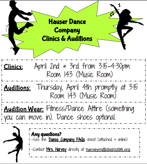Hauser Dance Company Clinics and Auditions Featured Photo