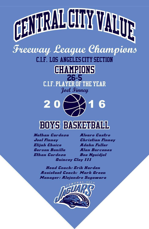 2016 Boys Basketball Championship Banner