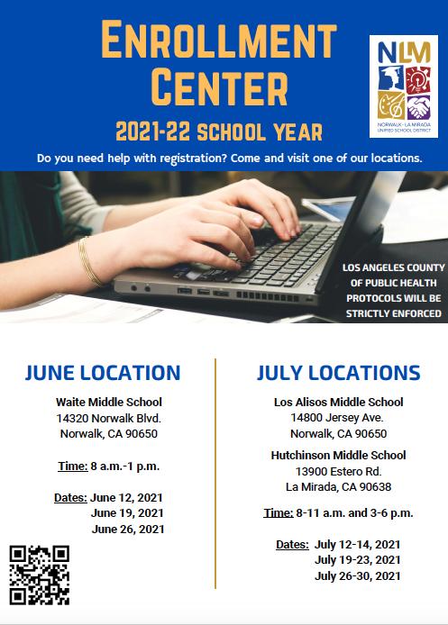 Enrollment Center 2021-22 Year/Centro De Inscripciones Ano Escolar 2021-22 Featured Photo