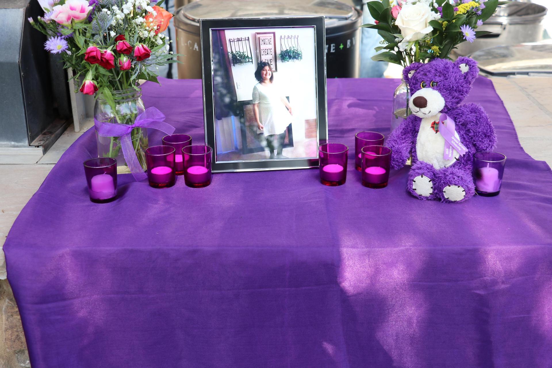 Memorial Table for Janessa Ramirez