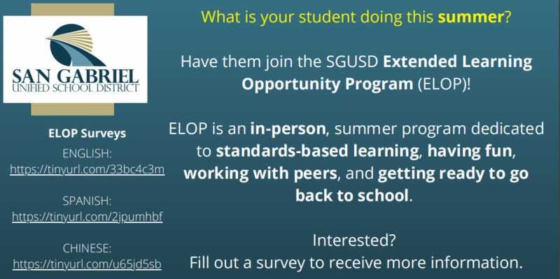SGUSD Extended Learning Opportunity Program Featured Photo