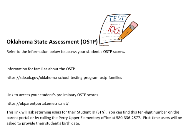 Oklahoma State Testing Access Information