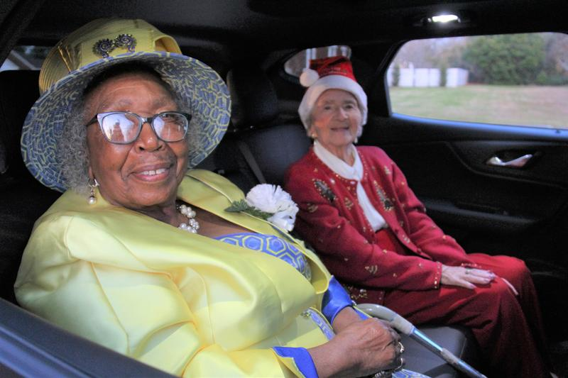 As part of its Centennial Celebration activities, Lexington Three set out a few months ago to try to locate some of the district's oldest living graduates in order to honor them.  Two of these individuals, Ms. Corine Johnson and Ms. Marjorie Spears, served as the Grand Marshals of the Batesburg-Leesville Christmas Parade on Sunday, December 8th. Both ladies are in their mid-to-late nineties.