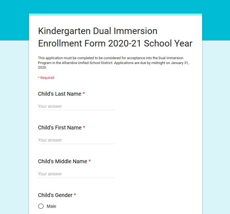 DI Kinder Registration Opens December 1, 2019 - January 31, 2020 Featured Photo
