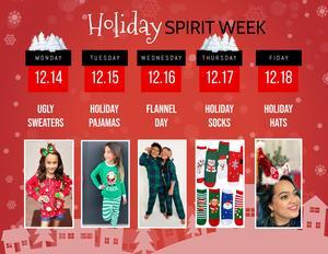 Holiday Spirit Week