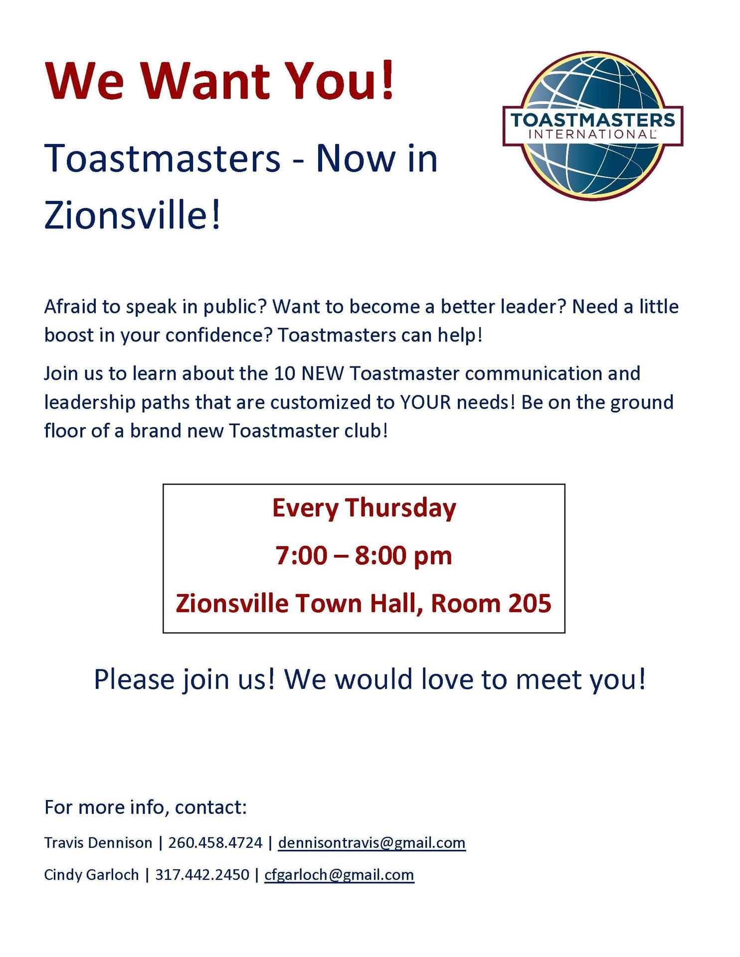 Zionsville Toastmasters