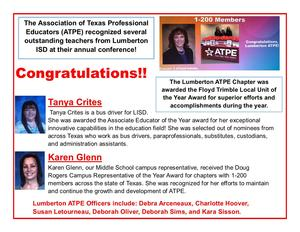 LISD Teachers Shine at ATPE Summit