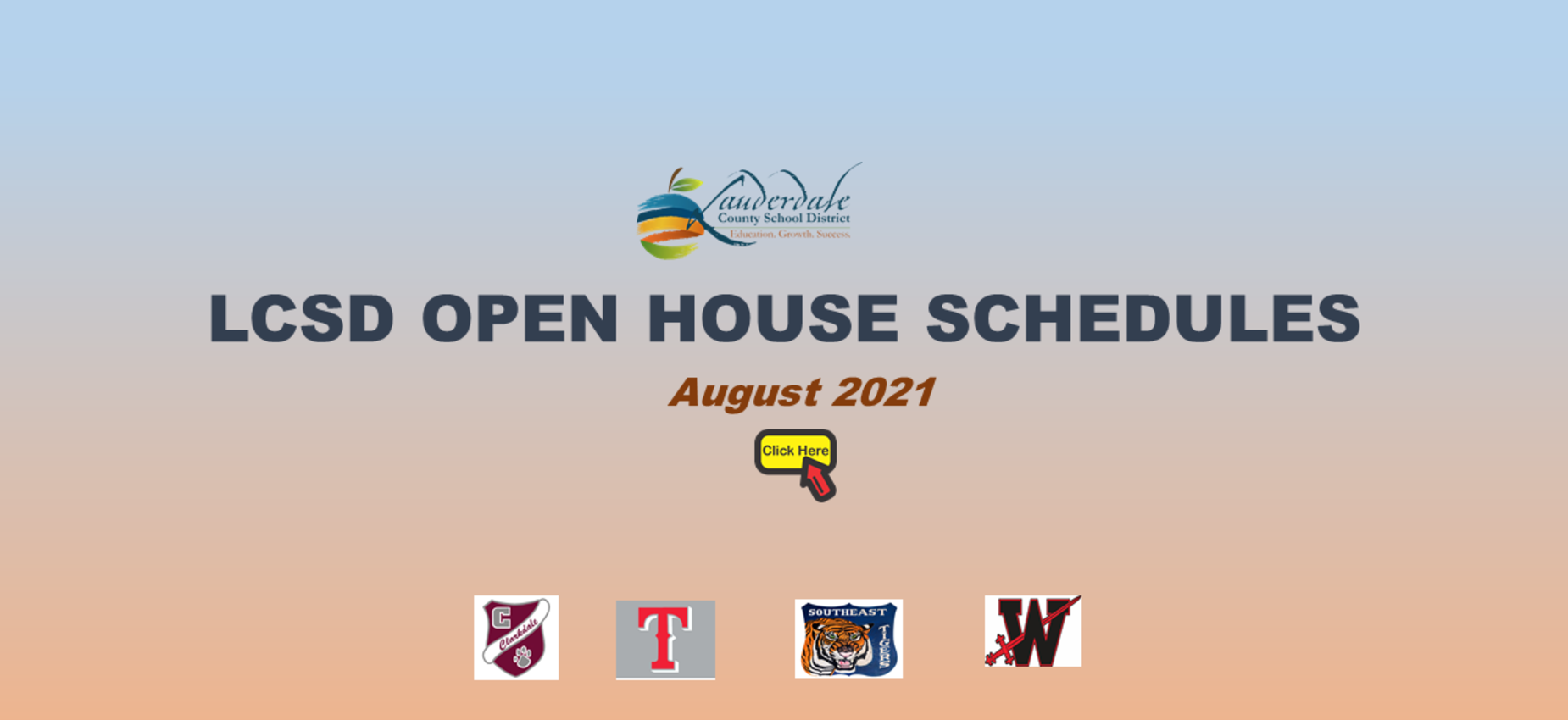 LCSD Open House Schedules