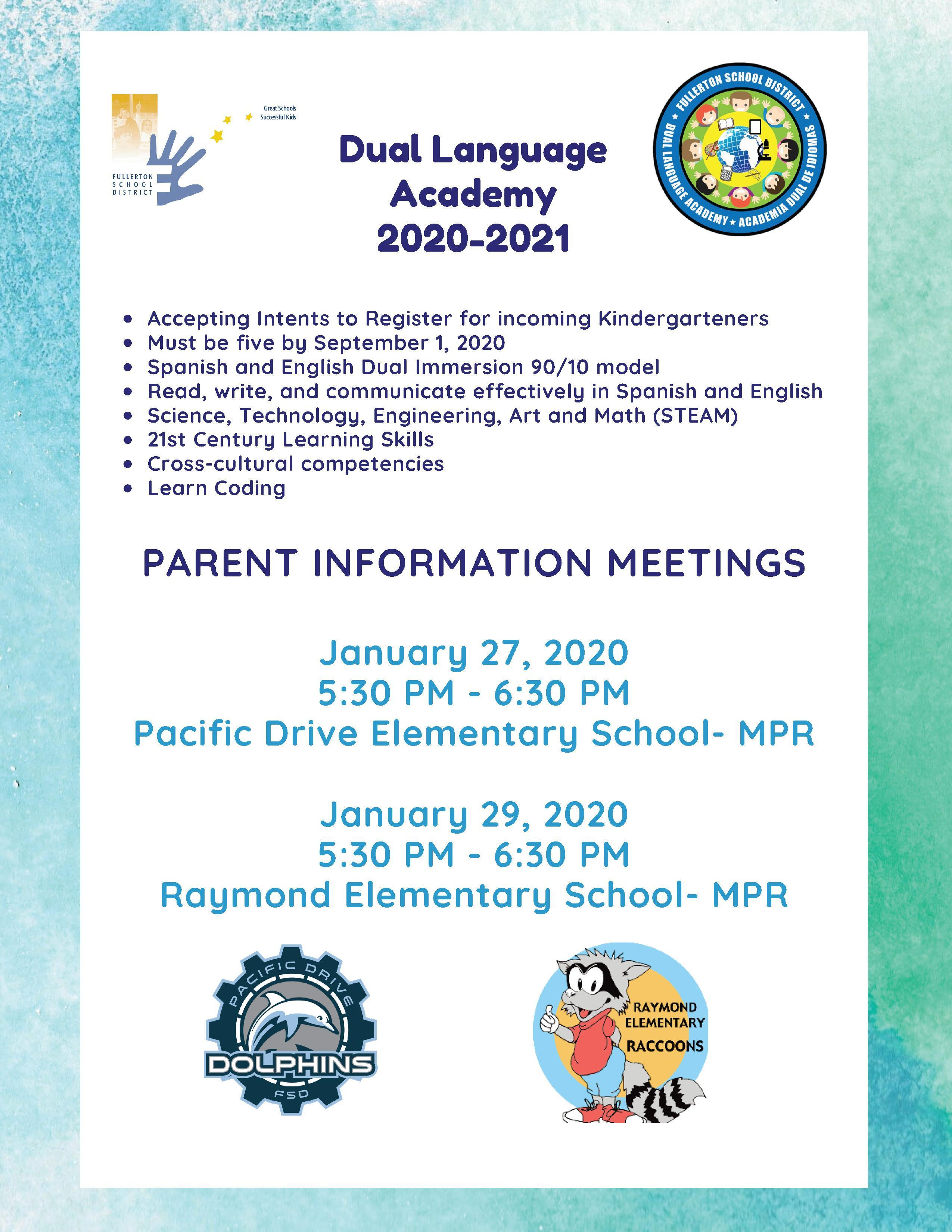 DLA Parent Meeting Flyer English