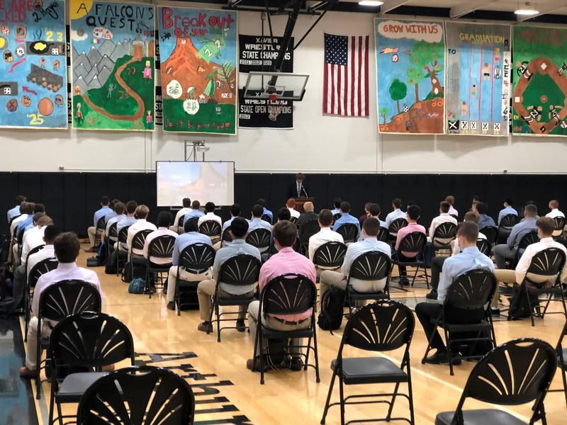 Xavier High School orientation 2021