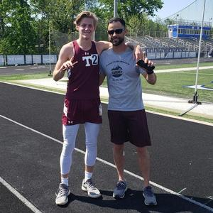 Senior Track Member wins 1st place in sectionals.