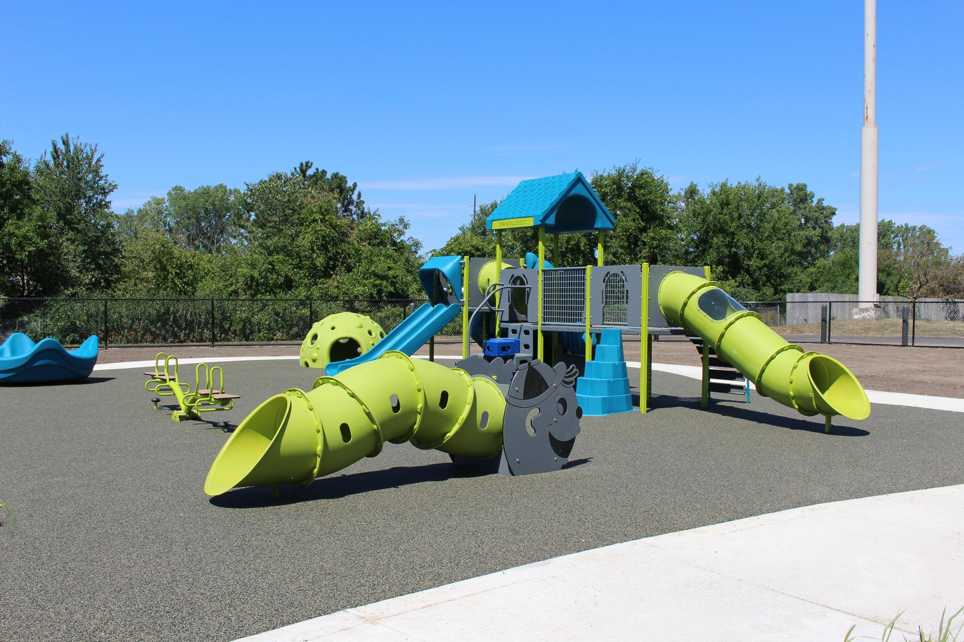 playground with equipment for youngsters