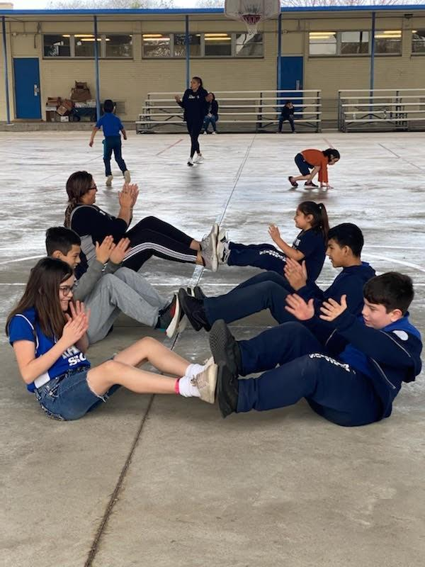 Students in PE