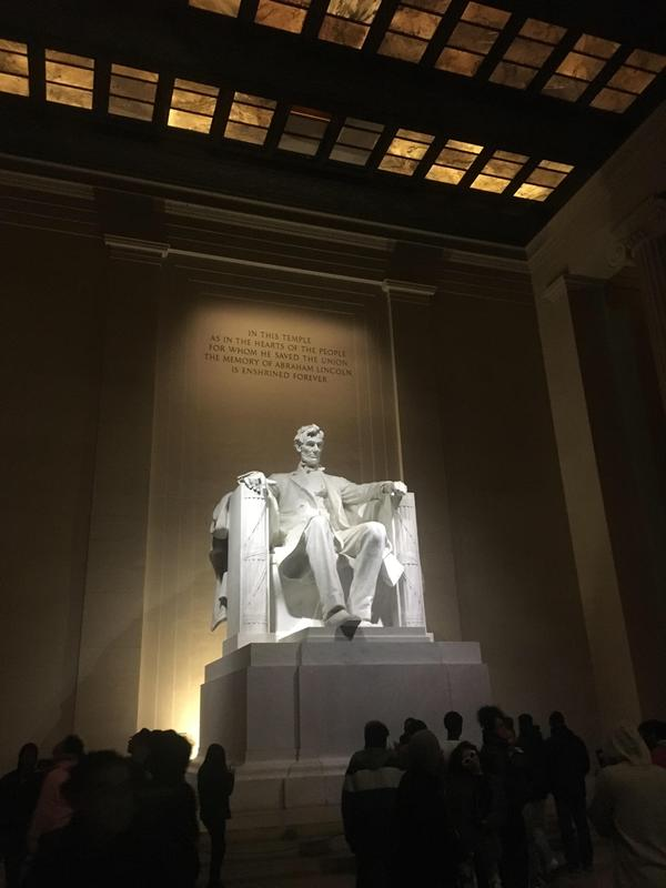 Touring the monuments at night in DC