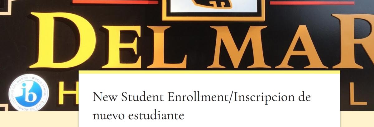 Image of google form for new student enrollment